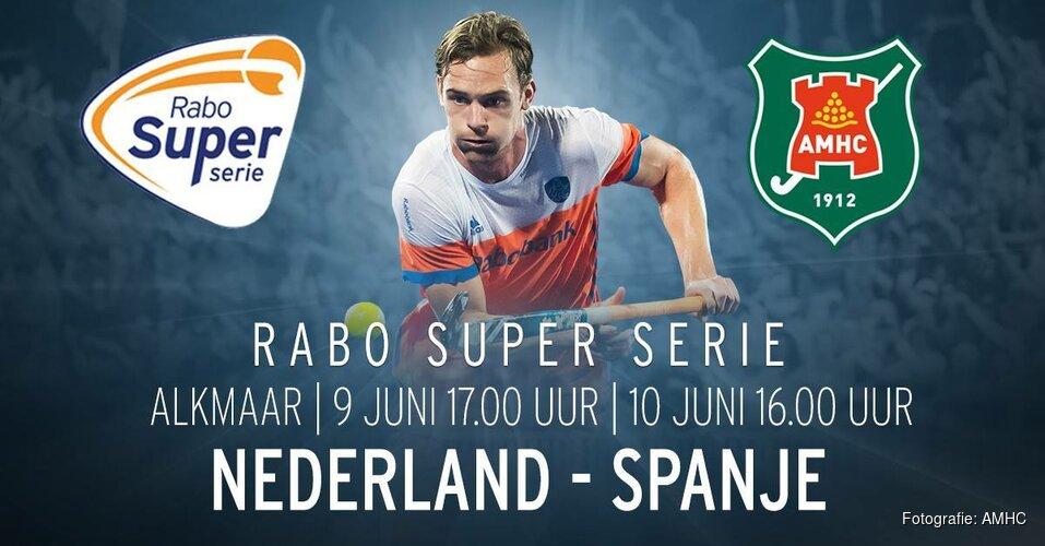Hockeyinterlands Nederland-Spanje bij AMHC