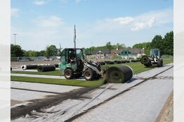 Alkmaar Sport bouwt kunstgrasveld SV Koedijk om tot hybride WETRA grasveld