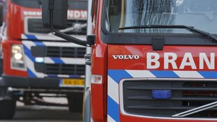 Grote brand in centrum Heiloo