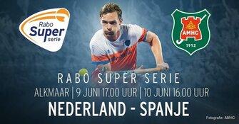 Dit Weekend de Hockeyinterlands Nederland-Spanje bij AMHC