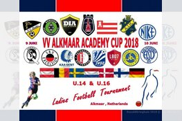 Geheel weekend internationaal meidentoernooi VV Alkmaar Academy Cup