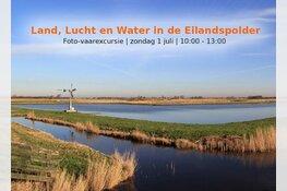 Zo 1 juli: Foto-vaarexcursie in de Eilandspolder, Driehuizen