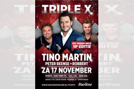 Zaterdag 17 november groot feest met Tino Martin in Marlene