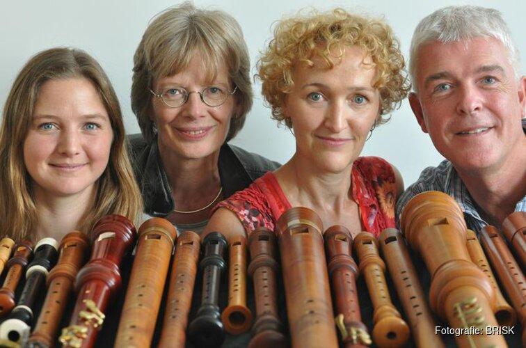 Zondag 8 juli 2018 15.00 uur: Optreden van Brisk Recorder Quartet met het programma 'Canção',  muziek uit Spanje en Portugal.