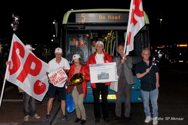 SP bewijst laatste eer aan wijlen buslijn 5 Alkmaar