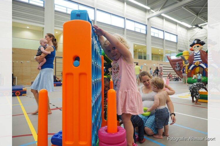 Sportinstuif voor de dreumesen in Sportpaleis Alkmaar