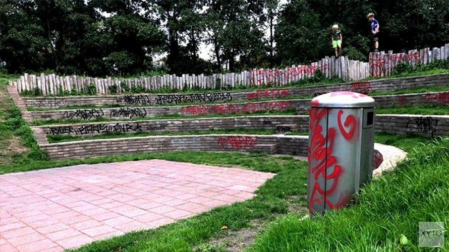 Vandaal kladt Alkmaars openluchttheater onder met graffiti