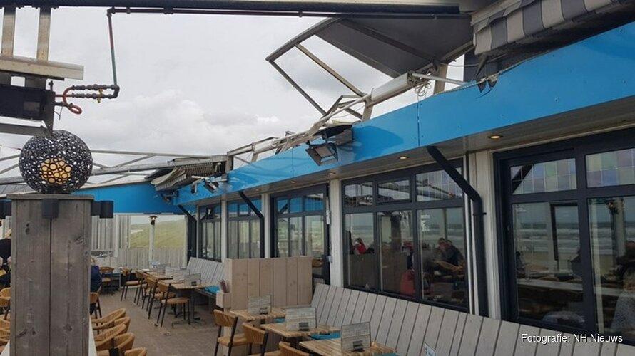Flinke schade bij strandtent de Uitkijk door onverwachte windhoos