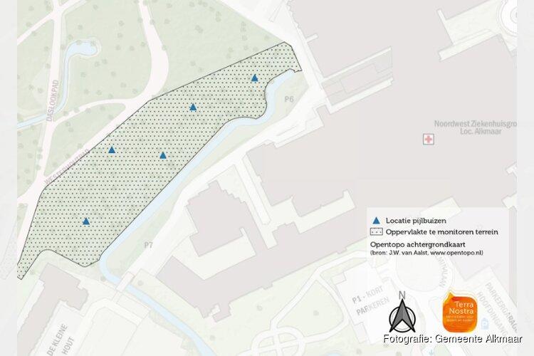 Peilbuizen rond nieuwbouwlocatie ziekenhuis