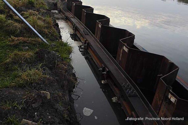 Herstelwerkzaamheden oevers omgeving Alkmaar in oktober en november