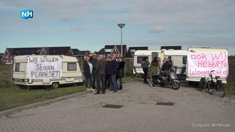 Geduld is op: Alkmaarse woonwagenbewoners protesteren voor meer staanplaatsen