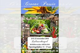 Groene Passie beurs 24 en 25 november Cultuurkoepel Heiloo