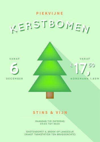 Piekvijne kerstbomen bij Stins & Vijn