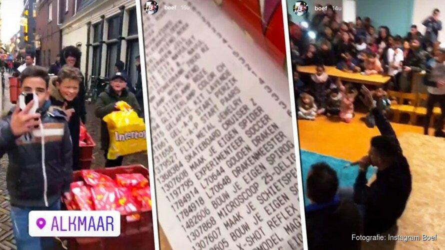 """Boef geeft honderden cadeaus aan asielkinderen: """"Iedereen in Alkmaar helpt mee"""""""