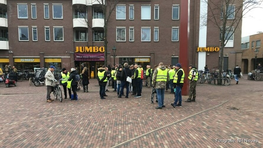 Protest van 'gele hesjes' in Alkmaar vreedzaam verlopen