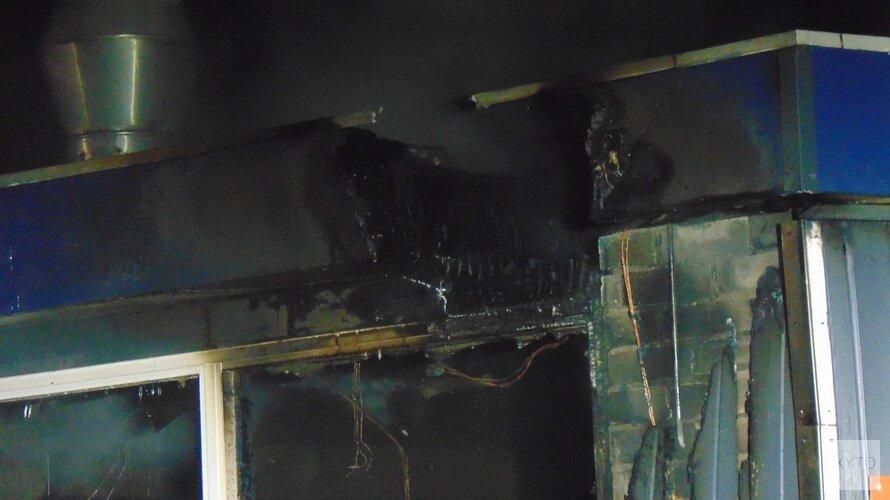 Brand in voetbalkantine in Schoorl