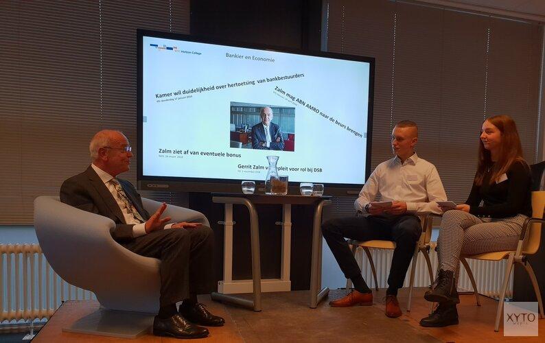 Studenten schitteren tijdens interview met Gerrit Zalm
