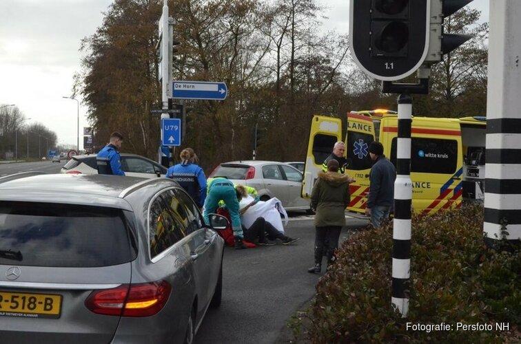 Man in Booster aangereden op Laan van brussel/ Huiswaarderweg