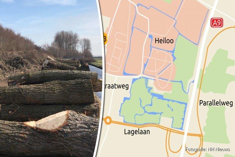 Bomenkap voor afslag A9 Heiloo hervat