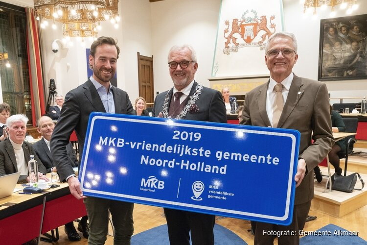 Alkmaar MKB-Vriendelijkste gemeente van Noord-Holland