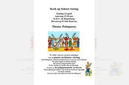 Kerk op Schootviering Palmpasen 14 april 2019 Protestantse Kerk te Sint Pancras