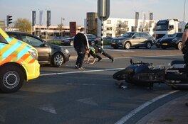 Motorrijder gewond na botsing Westerweg
