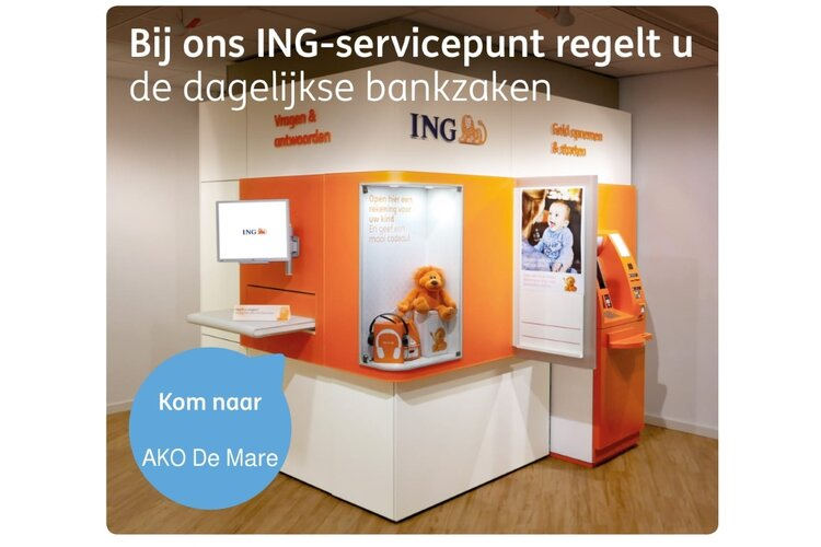 Regel uw bankzaken bij het ING-servicepunt