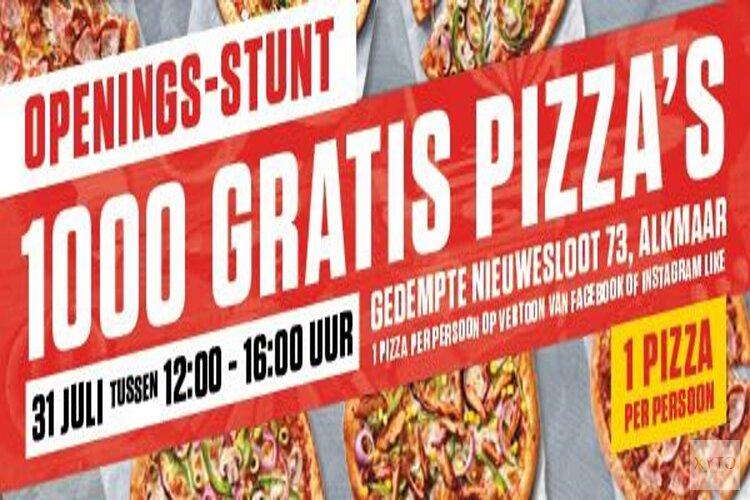 Woensdag 1000 gratis pizza's bij New York Pizza Alkmaar