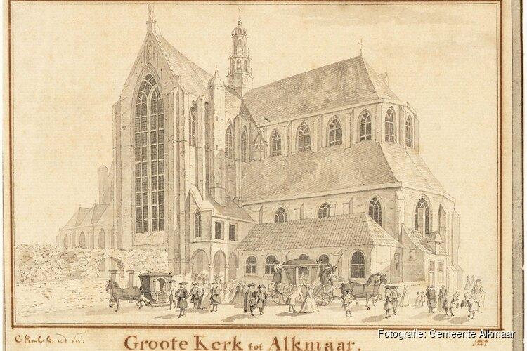 Ceremonie nieuwe inrichting kerkhof Grote Sint Laurenskerk