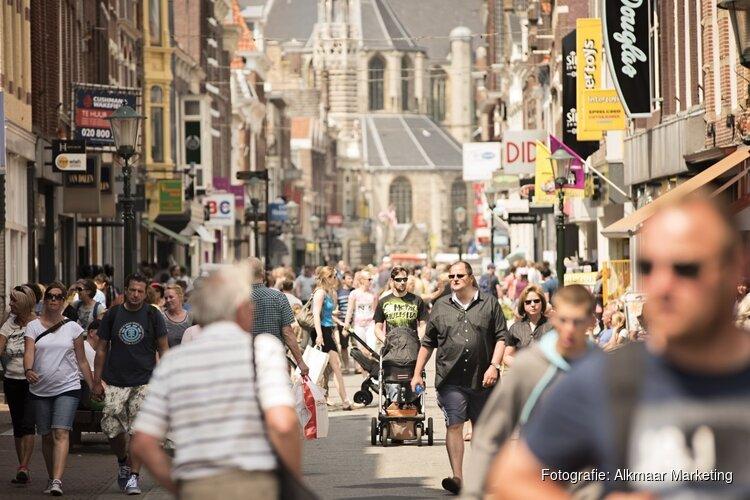 Bezoek Alkmaarse binnenstad groeit tegen de trend in