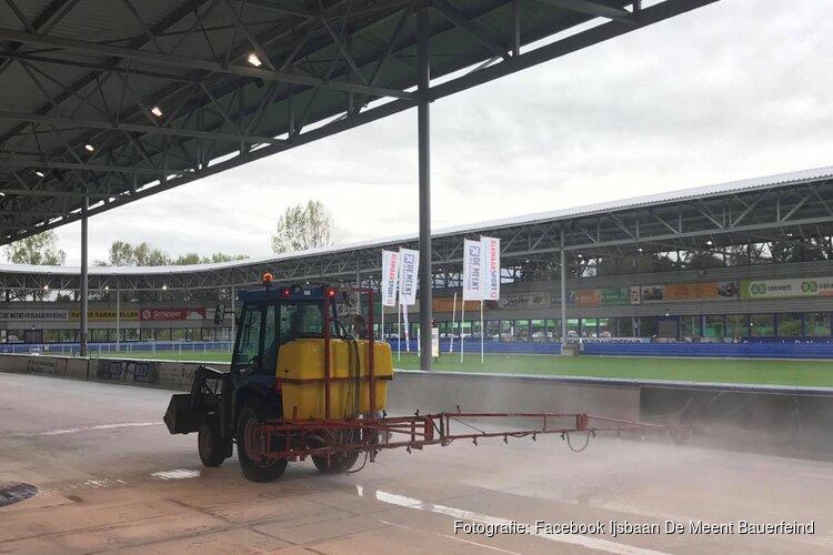 Nog niet buiten schaatsen in Alkmaar: ijsbaan gesloten vanwege regen