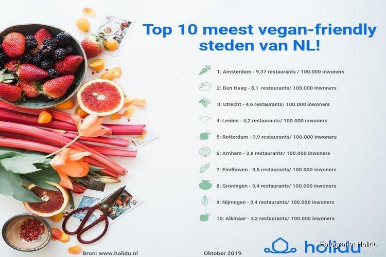 Top 10 meest vegan-friendly steden van Nederland