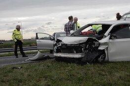 Vijf gewonden bij frontale botsing op N9: weg afgezet