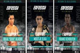 Mootje, Frans en Bilal bereiden zich voor op kickboks event Enfusion
