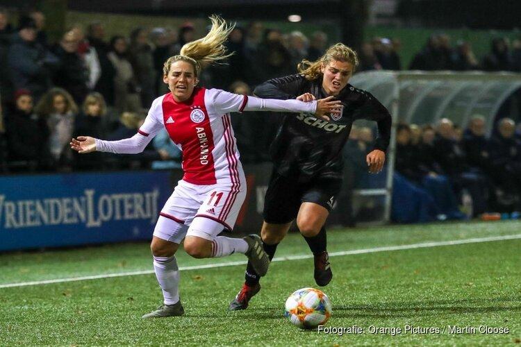 Ajax-vrouwen na rust langs VV Alkmaar