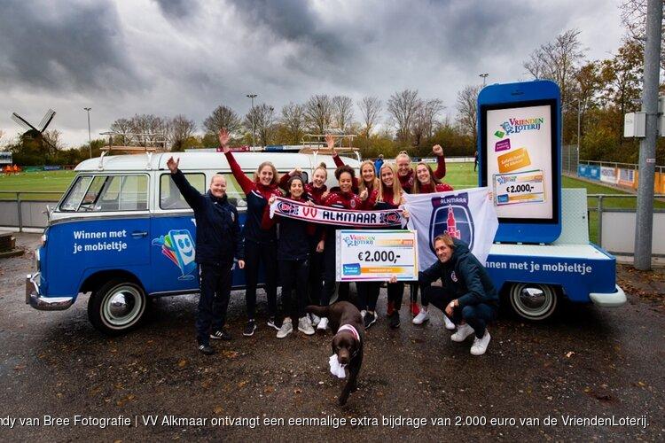 VV Alkmaar ontvangt 2.000 euro extra van VriendenLoterij