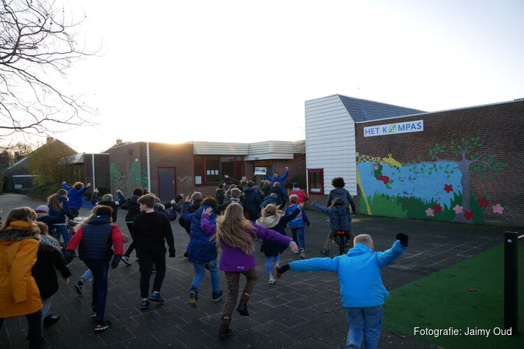 Groep 8 van Het Kompas wint de School in Beweging Challenge!