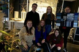 Studenten Bloem & Design openen pop-up kerstwinkel voor Campagneteam Huntington