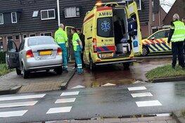 Ongeval met twee auto's in Mandenmakerstraat