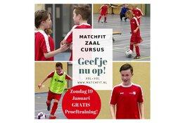 Voetbalschool Matchfit organiseert gratis proeftraining in de zaal