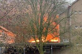 Hevige brand in school PCC Fabritius in Alkmaar is aangestoken