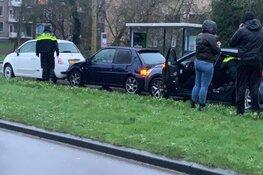 Kettingbotsing met vier personenauto's op Koelmalaan