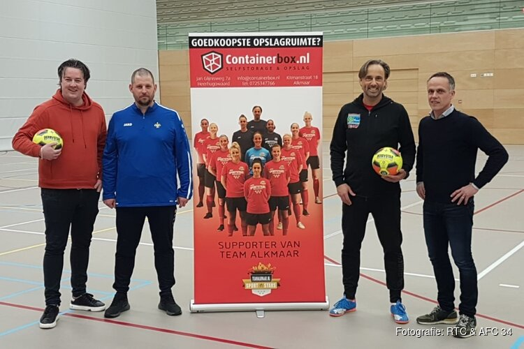 RTC Zaalvoetbal van Team Alkmaar/Sportstars en de RJO van AFC'34 stemmen talentontwikkeling af
