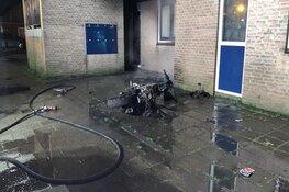 Scooter in brand in Alkmaar