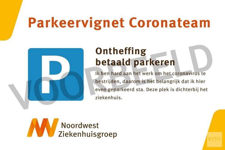 Coronateam Noordwest Ziekenhuisgroep krijgt parkeerontheffing