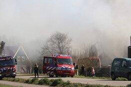 Vrachtwagen in de brand
