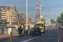 Fietser gewond na ongeval op Kanaalkade