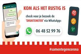 Gebruik Whatsapp voor bezoek aan binnenstad om drukte te mijden!