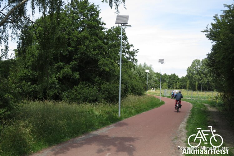 Alkmaar Fietst: Innovatieve verlichting langs Dijk- en Waardpad