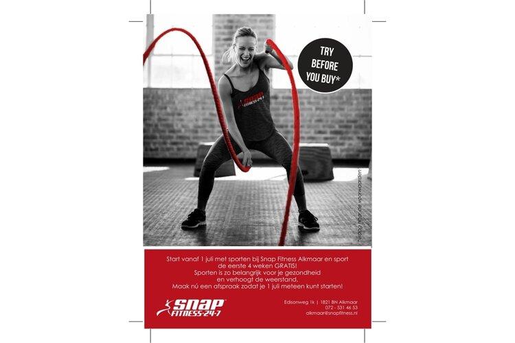 Eerste 4 weken GRATIS bij Snap Fitness Alkmaar
